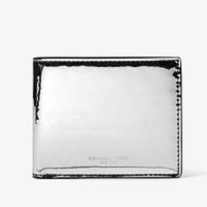 Michael Kors Men's Metallic Silver Billfold Wallet